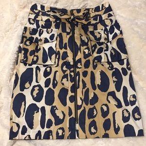 Diane von Furstenberg Silk Print Skirt